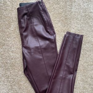 Topshop leather pants